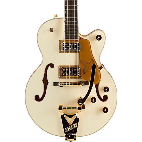 Gretsch Guitars G6112TCB-WF Limited Edition Falcon Center Block Jr. with Bigsby and Gold Hardware Hollowbody Electric Guitar Vintage White