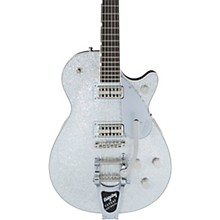 Gretsch Guitars G6129T-PE Players Edition Duo Jet Silver with Bigsby Electric Guitar