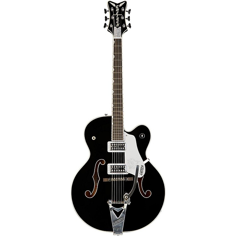 Gretsch Guitars G6136LBP Brian Setzer Black Phoenix Guitar Black Chrome Hardware