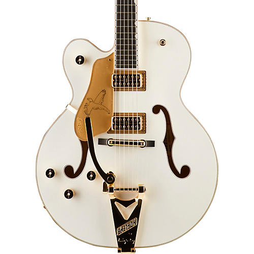 gretsch guitars g6136t white falcon left handed hollowbody with bigsby electric guitar white. Black Bedroom Furniture Sets. Home Design Ideas