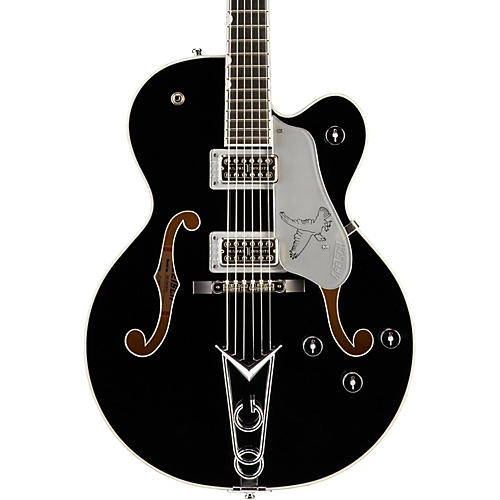 Gretsch Guitars G6139-CBSL Silver Falcon Center Block Black W/ Silver SparklBinding