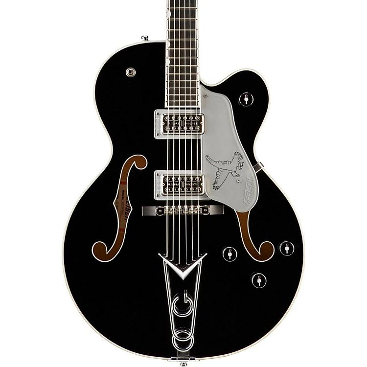 Gretsch GuitarsG6139-CBSL Silver Falcon Center BlockBlack W/ Silver SparklBinding