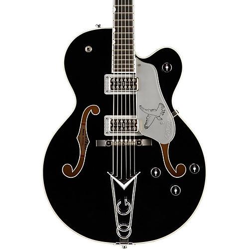Gretsch Guitars G6139-CBSL Silver Falcon Center Block Black with Silver Sparkle Binding