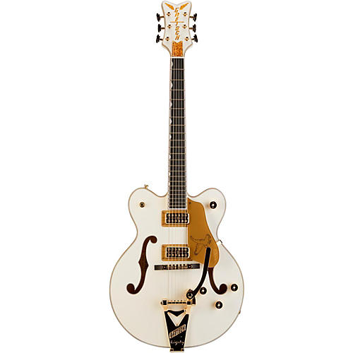 Gretsch Guitars G6139T-CBDC White Falcon Center Block Double Cutaway with Bigsby Tremolo White W/ Gold SparklBinding