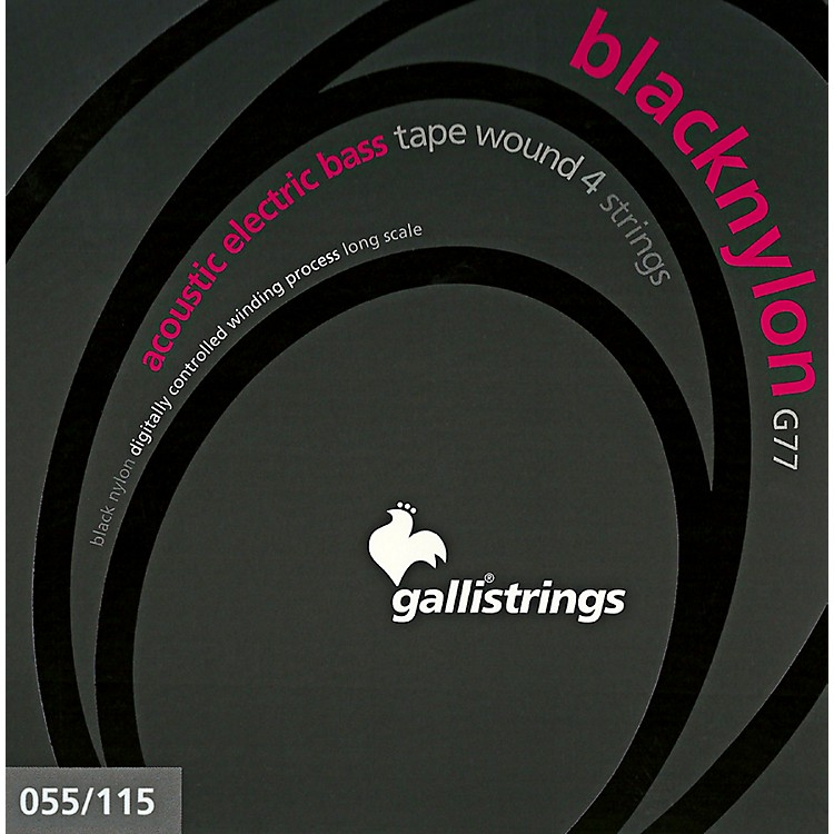 Galli StringsG77 BLACK NYLON TAPE WOUND Acoustic Bass Strings 55-115