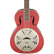 Gretsch Guitars G9241 Alligator Biscuit Round-Neck Acoustic-Electric Resonator Guitar Level 1 Chieftain Red