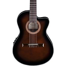 Ibanez GA35 Thinline Acoustic-Electric Classical Guitar Dark Violin Burst