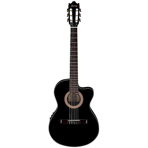 Ibanez GA35TCEBKN Cutaway Thinline Classical Acoustic-Electric Guitar-thumbnail
