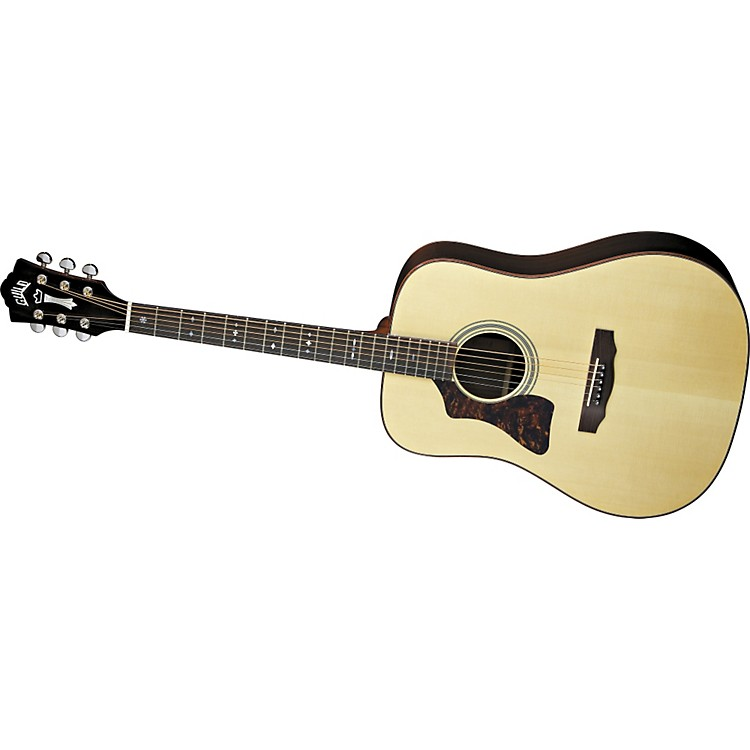 Guild GAD-50L Acoustic Design Series Left-Handed Dreadnought Guitar with Case