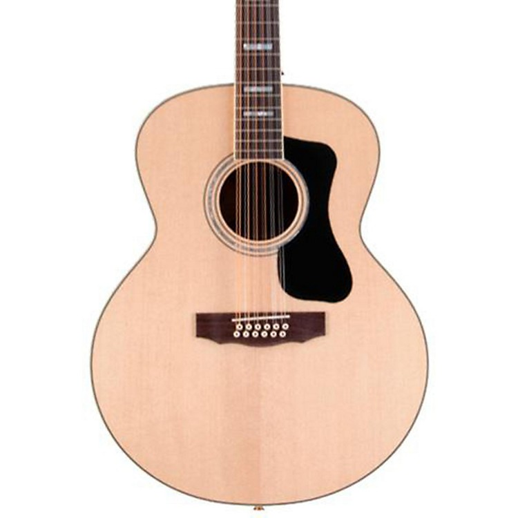Guild GAD Series F-1512E 12-String Jumbo Acoustic-Electric Guitar Natural