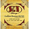 SIT Strings GB1048 Extra Light 80/20 Golden Bronze Acoustic Guitar Strings thumbnail