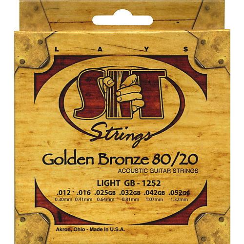 SIT Strings GB1252 Golden Bronze 80/20 Light Strings