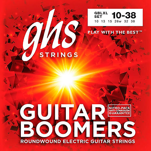 GHS GBLXL Boomers Light/Extra Light Electric Guitar Strings-thumbnail
