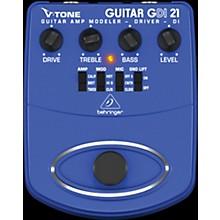 Behringer GDI21 V-Tone Guitar Driver DI Guitar Amp Modeler/Direct Recording Preamp/DI Box Effects Pedal