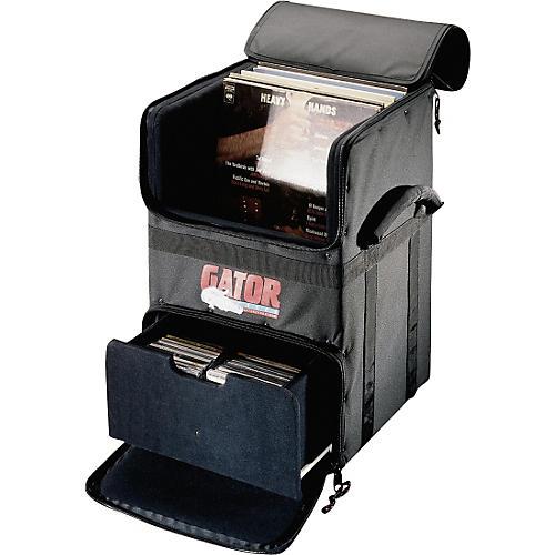 Gator GDJ-CADDY-100 Rolling DJ LP and CD Transporter