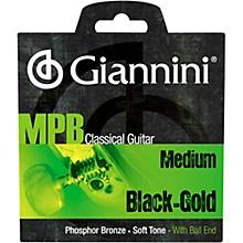 Giannini GENWBG Classical Guitar Medium Tension Phosphor Bronze Black Nylon Ball End Strings