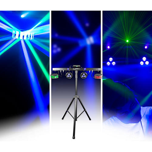 CHAUVET DJ GIGBAR 2 4-in-1 LED Lighting System with 2 LED Derbys, LED Wash Light, Laser, and 4 LED Strobe Lights-thumbnail