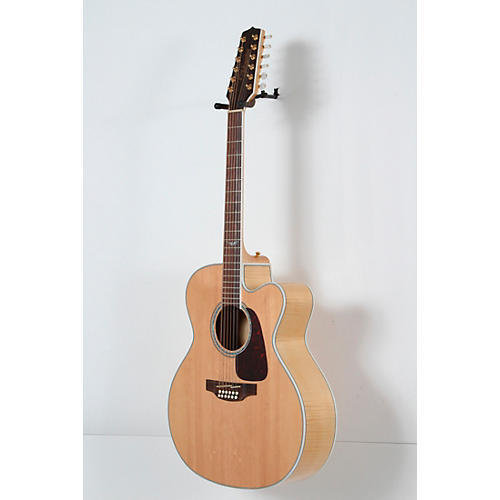 open box takamine gj72ce 12 g series jumbo cutaway 12 string acoustic electric guitar natural. Black Bedroom Furniture Sets. Home Design Ideas