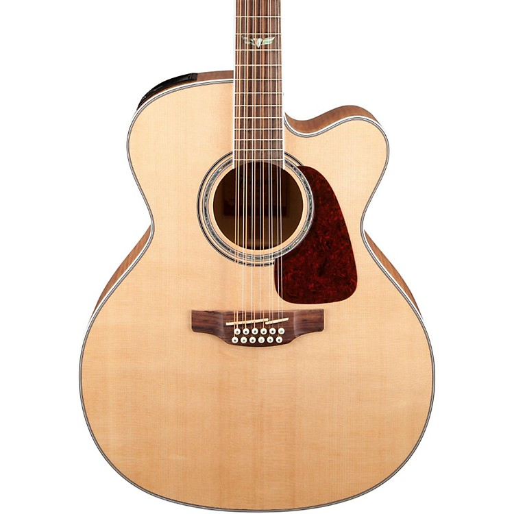 Takamine GJ72CE-12 G Series Jumbo Cutaway 12-String Acoustic-Electric Guitar Natural Flame Maple