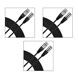 GM15 XLR to XLR Cable (3 Pack) 15 ft. Black