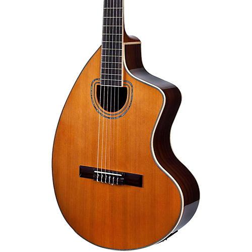 Giannini GNCRA SPC CEQ Craviola Nylon String Acoustic-Electric Guitar Natural