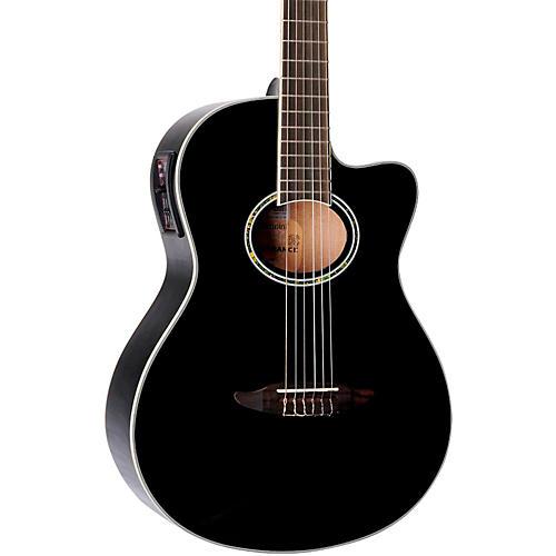 Giannini GNF-8 CEQ Cutaway Nylon String Acoustic-Electric Guitar Black