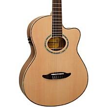 Giannini GNF-8R CEQ Cutaway Nylon String Acoustic-Electric Guitar Level 1 Satin Natural