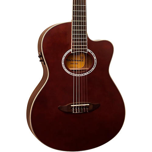 Giannini GNF-8R CEQ Cutaway Nylon String Acoustic-Electric Guitar Light Satin Chocolate