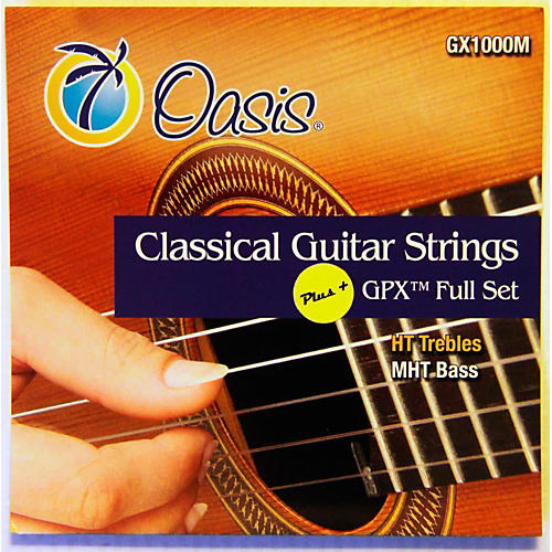 Oasis GPX+ Classical Guitar High Tension GPX Carbon Trebles/Medium Tension Sostenuto Basses-thumbnail