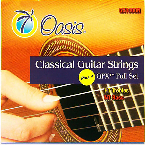 Oasis GPX+ Classical Guitar Strings High Tension GPX Carbon Trebles/Normal Tension Sostenuto Basses-thumbnail