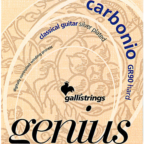 Galli Strings GR90 GENIUS CARBONIO Nylon Coated Silverplated Hard Tension Classical Acoustic Guitar Strings-thumbnail
