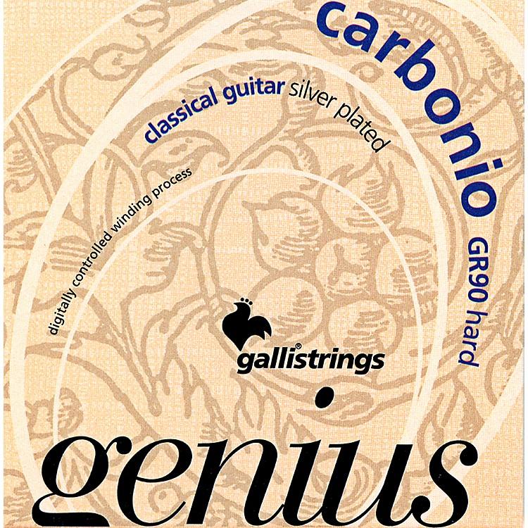 Galli StringsGR90 GENIUS CARBONIO Nylon Coated Silverplated Hard Tension Classical Acoustic Guitar Strings