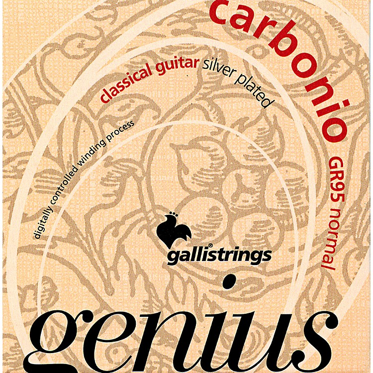 Galli StringsGR95 GENIUS CARBONIO Nylon Coated Silverplated NormalTension Classical Acoustic Guitar Strings