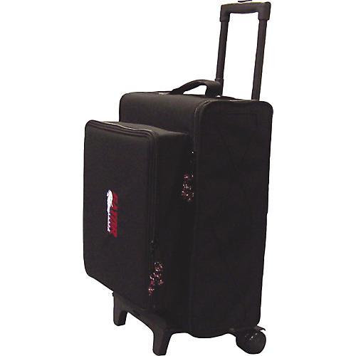 Gator GRBW-3U+6W Rolling 3U Rack Bag with Storage for 6 Wireless Microphones/Bodypacks