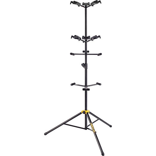 Hercules Stands GS526B Guitar Rack with 6 Piece Folding Yokes