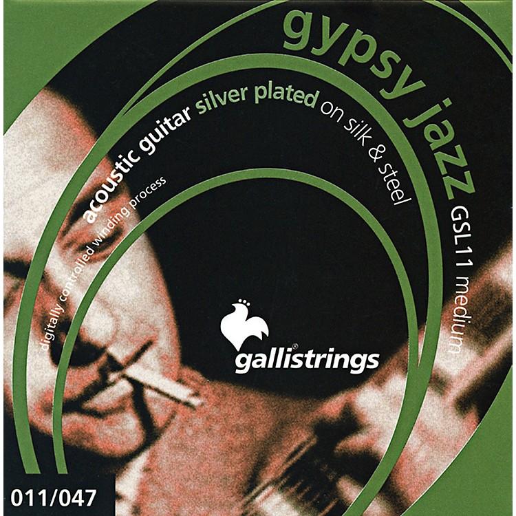 Galli StringsGSL11 GYPSY JAZZ Silver Plated Silk And Steel Medium Acoustic Guitar Strings