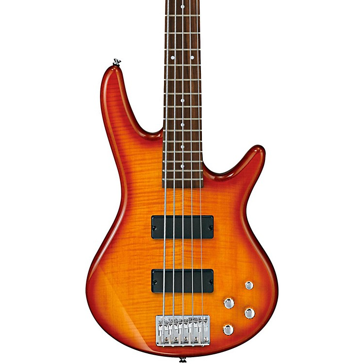 Ibanez GSR205FM 5-String Electric Bass Amber Burst