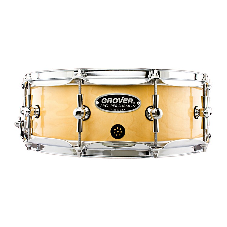 Grover Pro GSX Concert Snare Drum Natural Lacquer 5x14 Inch