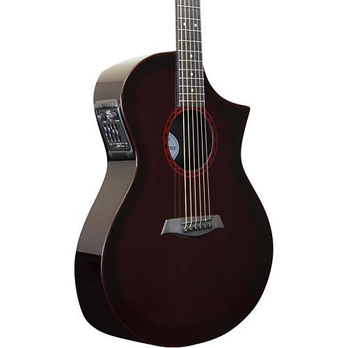 Composite Acoustics GX ELE Narrow Neck Acoustic-Electric Guitar Wine Red Burst