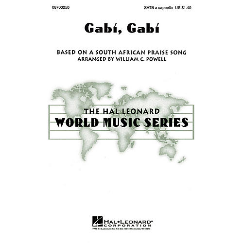 Hal Leonard Gabi, Gabi SATB a cappella arranged by William Powell