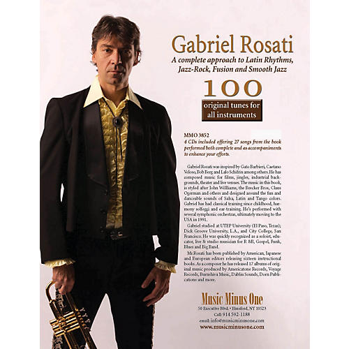 Music Minus One Gabriel Rosati - 100 Original Tunes for All Instruments Music Minus One Softcover with CD by Rosati-thumbnail