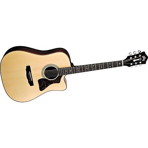 Guild Gad-40C Acoustic Design Series Cutaway Acoustic-Electric Guitar With Case
