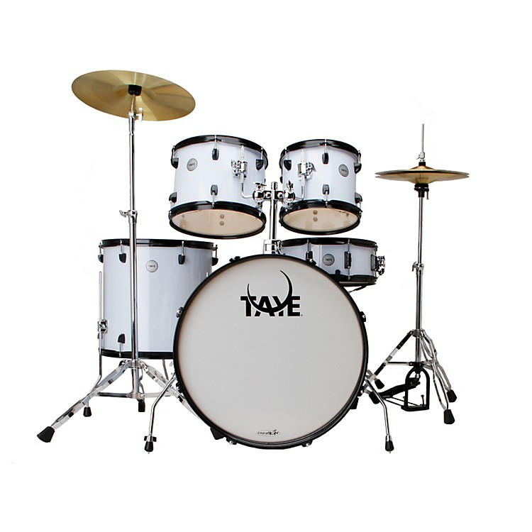 Taye Drums Galactic Series Audition 5-Piece Drumkit White