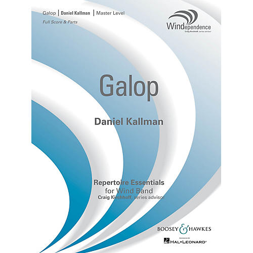 Boosey and Hawkes Galop (Score Only) Concert Band Level 4 Composed by Daniel Kallman