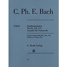 G. Henle Verlag Gamba Sonatas Wq 88, 136, 137 Henle Music Folios Composed by C.P.E. Bach Edited by Wolfram Enßlin