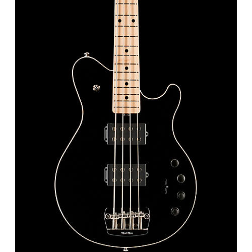 Music Man Game Changer Reflex 4-String Electric Bass Guitar Black Maple Fretboard
