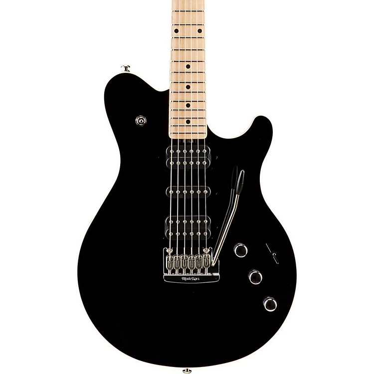 Music Man Game Changer Reflex HSH with Tremolo and Piezo Electric Guitar Black Maple Fretboard