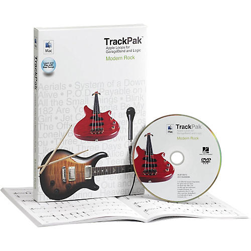 Hal Leonard GarageBand Modern Rock TrackPak (Book/DVD ROM)