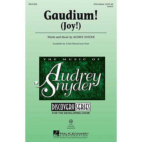 Hal Leonard Gaudium! (Discovery Level 2) 3-Part Mixed composed by Audrey Snyder