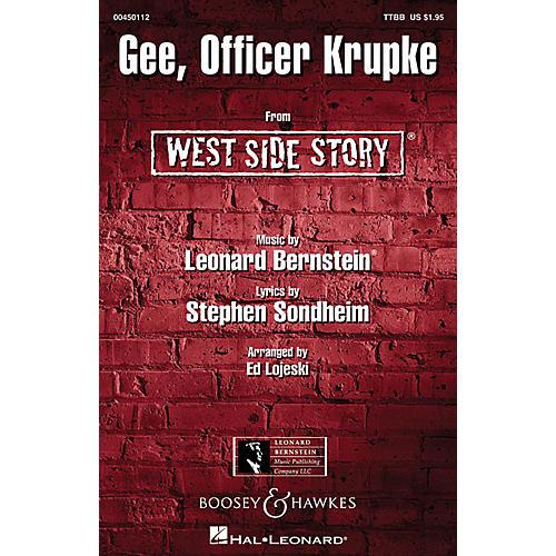 Hal Leonard Gee, Officer Krupke (from West Side Story) TTBB Arranged by Ed Lojeski-thumbnail